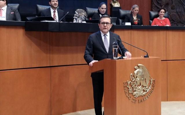 Guajardo destaca ante el Senado acuerdo comercial con EE.UU. y Canadá - Foto de @senadomexicano