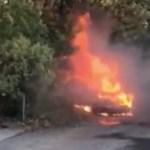 #Video Hombre apuñala a su esposa e incendia su auto en Inglaterra - Auto