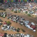 Gobierno federal trabajará para atender a damnificados por Willa - Inundaciones en Sinaloa por Willa. Foto de @JeanSuriel