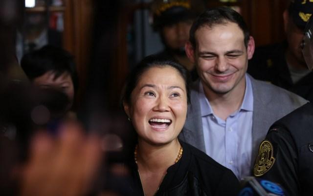 Keiko Fujimori continuará en la cárcel - Keiko Fujimori a su salida de la cárcel. Foto de AFP / Luka Gonzáles