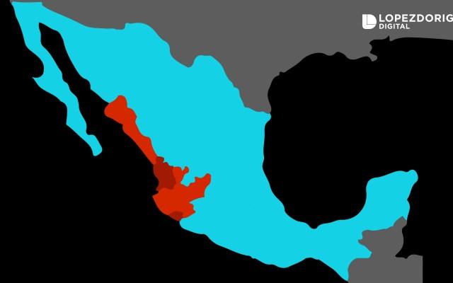 Willa dejará intensas lluvias en Jalisco, Colima, Nayarit y Sinaloa; extreme precauciones - Alerta en Sinaloa, Nayarit, Colima y Jalisco por el impacto de Willa. Imagen de López-Dóriga Digital