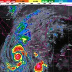 Alerta en Jalisco, Nayarit, Sinaloa y Colima por el huracán Willa - Mapa satelital de México. Foto de smn.cna.gob.mx