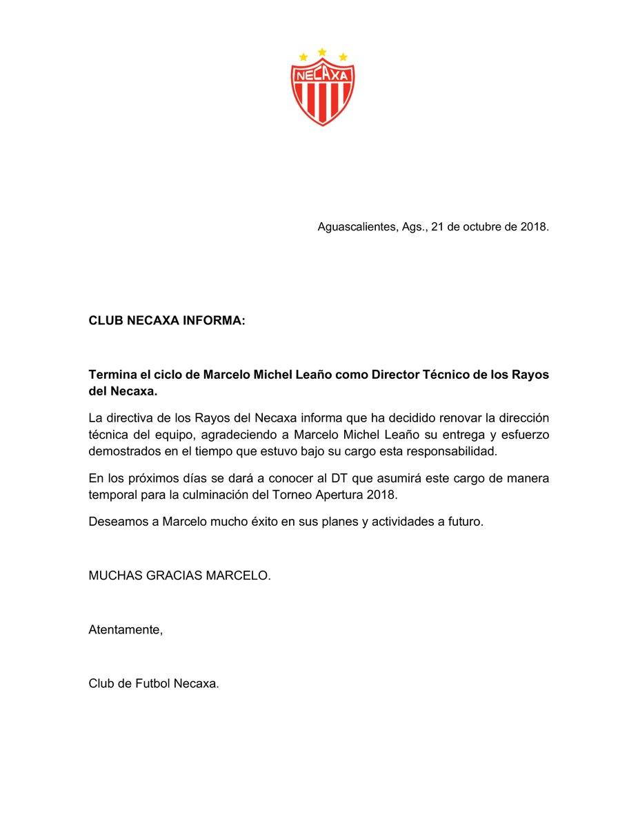 Necaxa despide a Michel Leaño