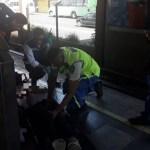 Convoy del Metro arrastra a una mujer en estación Portales