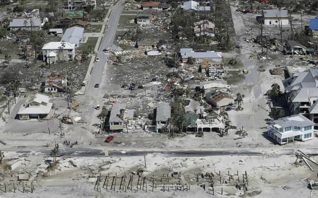 El antes y después del paso del huracán Michael por Florida - El antes y despues de mexico beach tras el impacto de michael