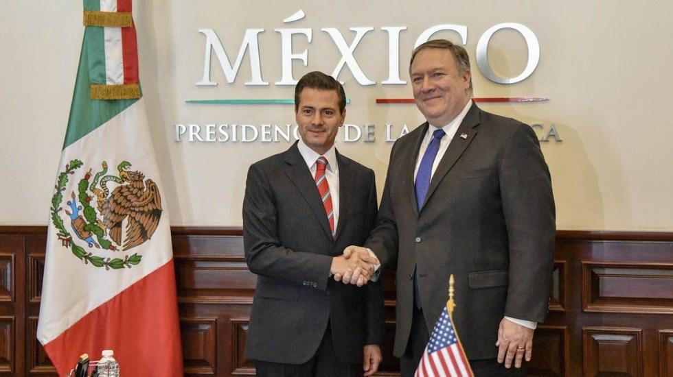 Mike Pompeo se reúne con Enrique Peña Nieto - Foto de @SecPompeo