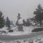 Se registra la primera nevada de la temporada en Ensenada - Nevada