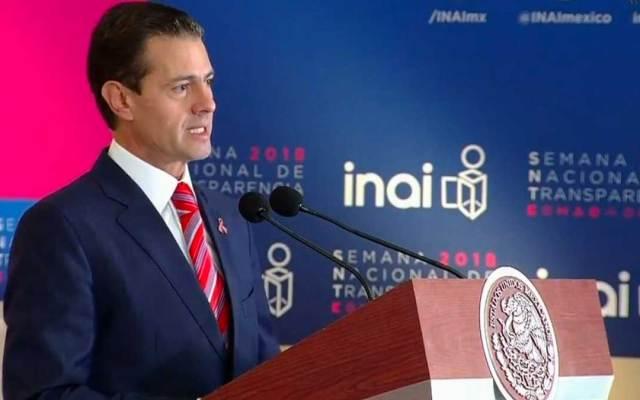 México es uno de los países con mejor regulación en transparencia: EPN - Foto de Milenio