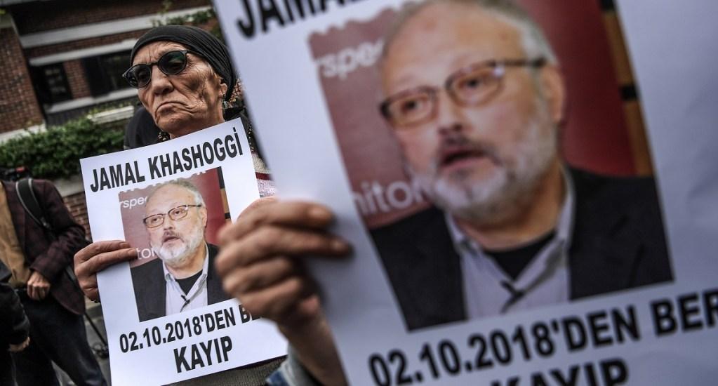 EE.UU. por primera vez en la lista de los países más peligrosos para periodistas - Protesta por desaparición del periodista saudí Jamal Khashoggi. Foto de AFP / Ozan Kose