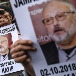 """Arabia Saudita castigará a asesinos de Khashoggi """"sean quienes sean"""" - Protesta por desaparición del periodista saudí Jamal Khashoggi. Foto de AFP / Ozan Kose"""