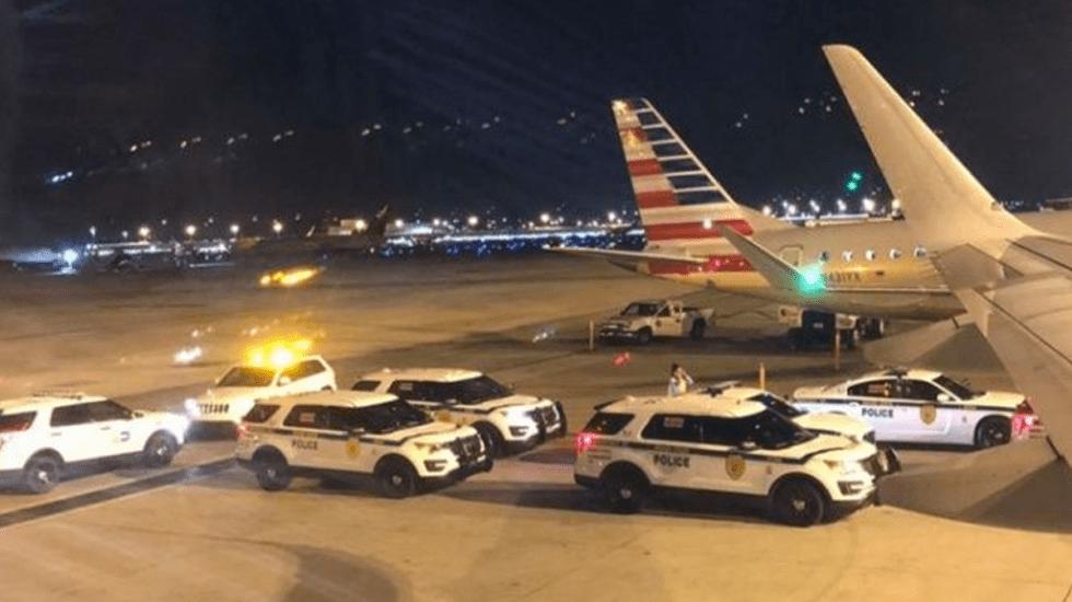 Evacuan vuelo de Miami a CDMX de American Airlines por falsa alarma - Foto de Twitter