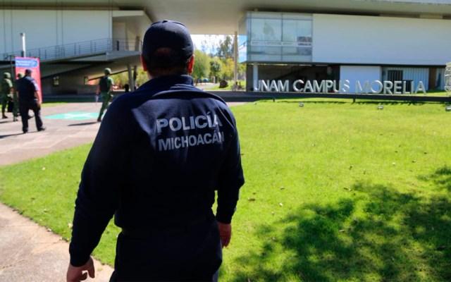 Descartan hallazgo de explosivos en escuela de la UNAM en Morelia - Foto de @MICHOACANSSP