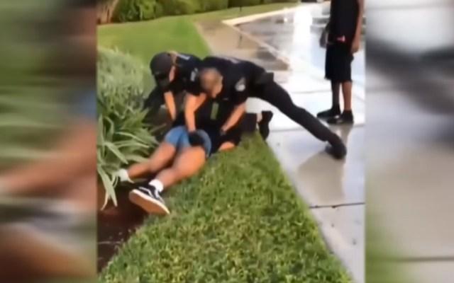#Video Policías de Florida golpean a joven de 14 años - policía