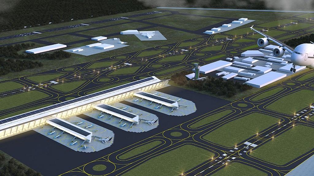 Proyección de la Base Aérea de Santa Lucía como aeropuerto. Foto de Internet