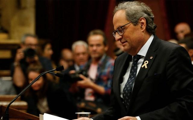 Cataluña lanza ultimátum a Madrid por independencia - Quim Torra. Foto de Pau Barrena/AFP