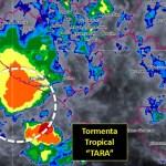 Centro de tormenta Tara se localiza cerca de la costa de Colima - Foto de @conagua_clima