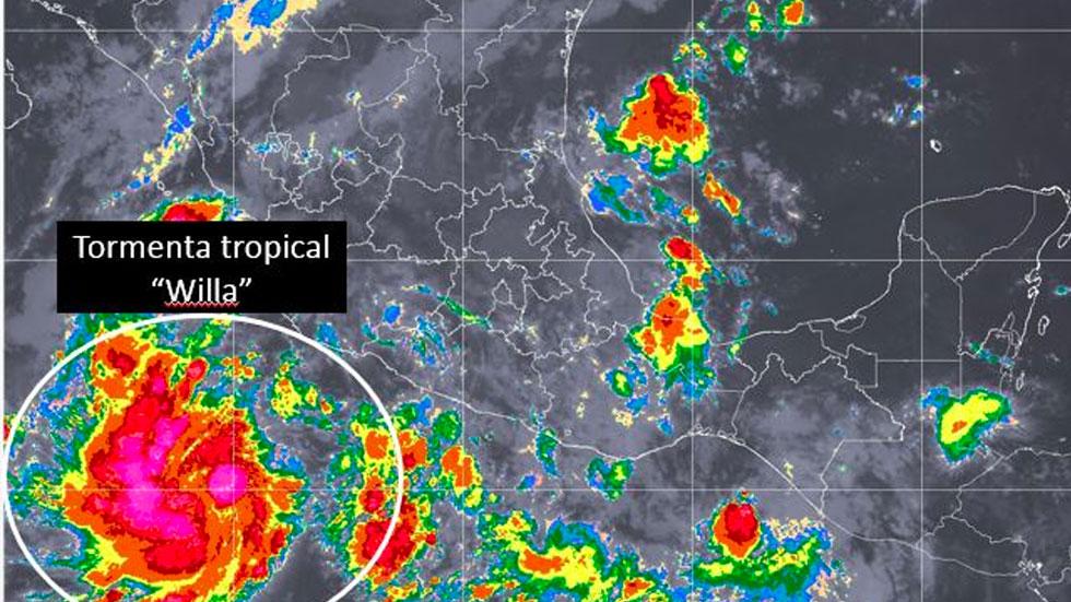 'Willa' se convierte en huracán categoría 1 al suroeste de Colima