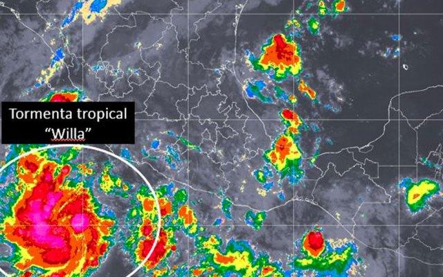 Se forma la tormenta tropical Willa al suroeste de Colima - Se forma la tormenta tropical Willa al suroeste de Colima