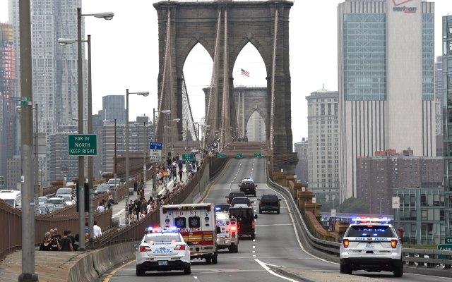Inicia cierre del Puente de Brooklyn por juicio del Chapo - Foto de AFP