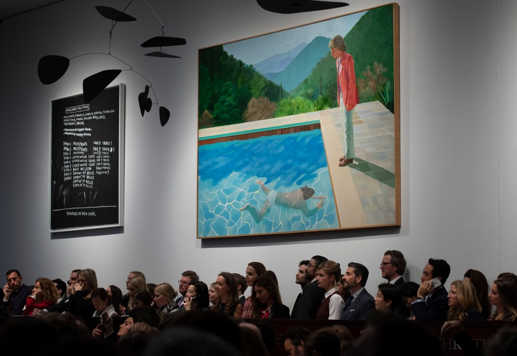 Venden una obra de Hockney en más de 90 mdd - Foto de AFP