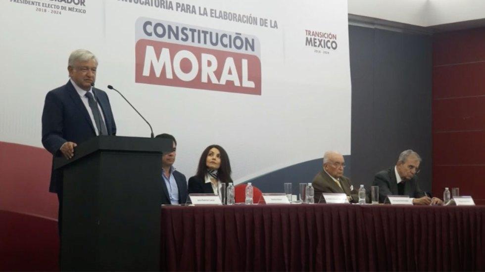 Convocatoria para la elaboración de la Constitución Moral - Foto de Facebook