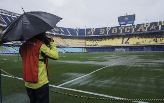 Suspenden la final de la Libertadores por mal clima; se jugará el domingo - Foto de Eitan ABRAMOVICH / AFP
