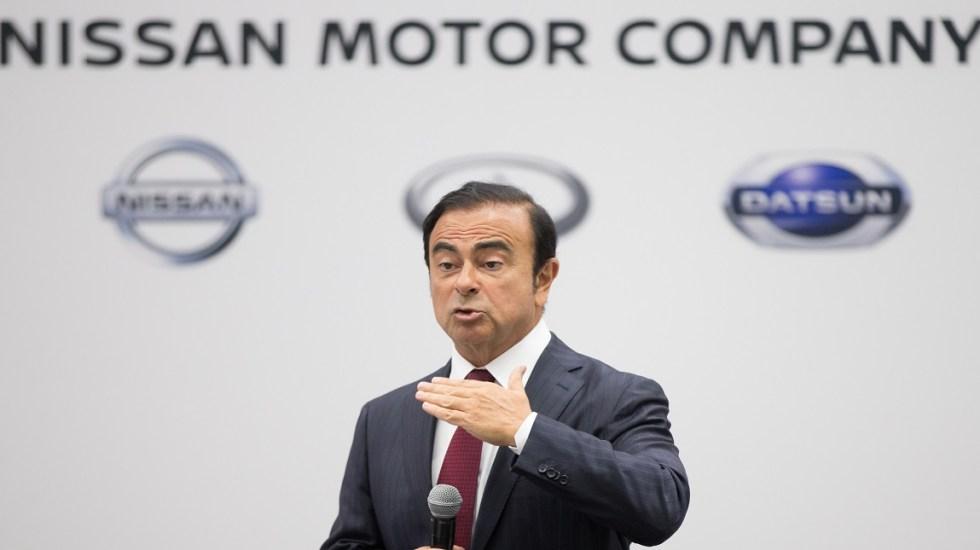 Japón presentará más cargos contra presidente de Nissan - Carlos Ghosn de Nissan. Foto de AFP / Geoff Robins