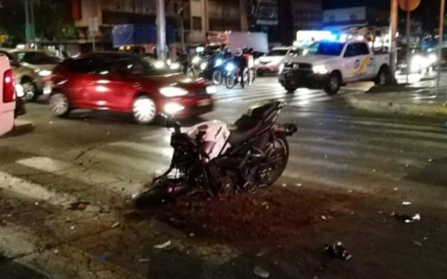 Choca patrulla con motocicleta en Cuauhtémoc - choque patrulla y motocicleta cuauhtémoc