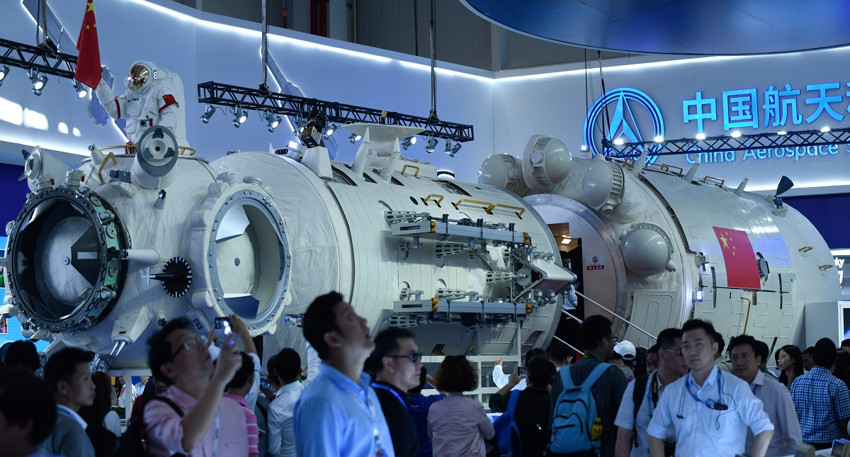 La Estación Espacial de China comenzará su montaje en 2022. Foto de AFP / Wang Zhao