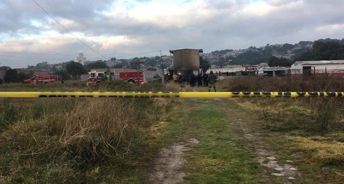 La zona donde ocurrió la explosión fue acordonada por las autoridades. Foto de @vialhermes