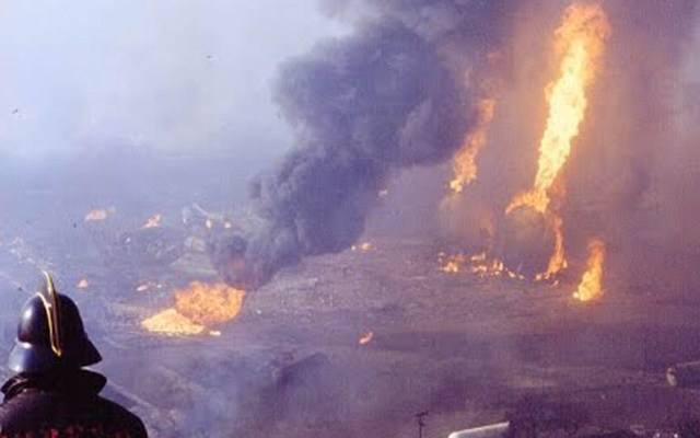 Vecinos de San Juanico cumplen 34 años exigiendo fin a las gaseras - El 19 de noviembre de 1984 ocurrió una serie de explosiones en San Juanico. Foto de Internet