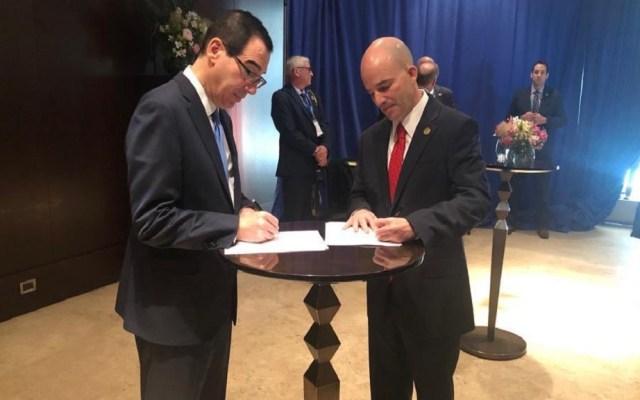 México y EE.UU. formalizan Acuerdo de Estabilidad Cambiaria - Firma del Acuerdo de Estabilidad Cambiaria. Foto de @JAGlezAnaya