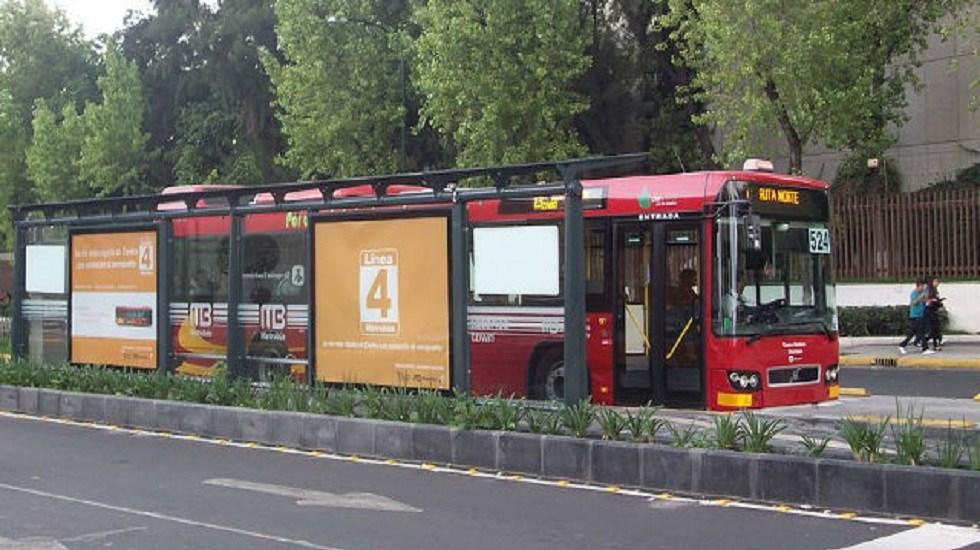 Metrobús cerrará estaciones por investidura de AMLO - Línea 4 del Metrobús. Foto de Internet