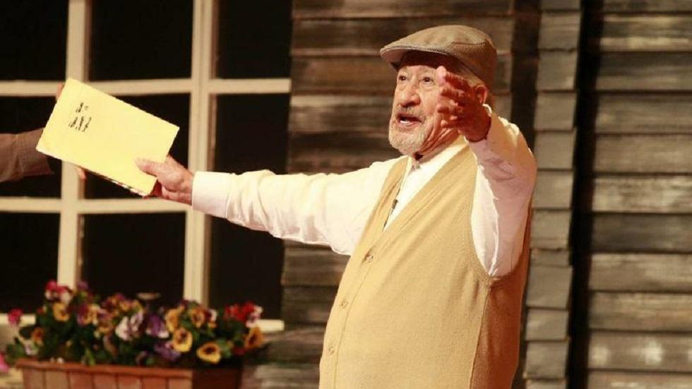 Hijo narra robo a casa de Ignacio López Tarso - López Tarso en obra de teatro El Cartero. Foto de Internet