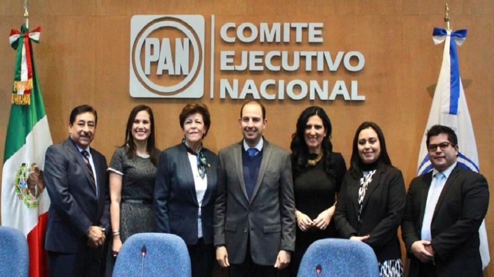 PAN buscará anular Ley de Administración Pública Federal - Marko Cortés recibe constancia de mayoría como nuevo dirigente del PAN. Foto de @MarkoCortes