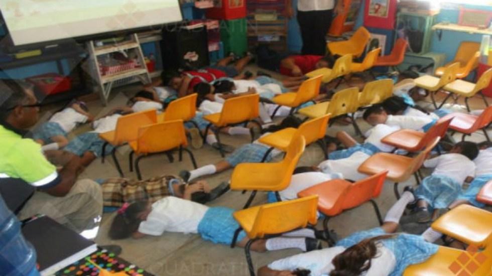 Enseñan a niños a tirarse al piso durante balaceras en kínder de Guerrero - Foto de Quadratín