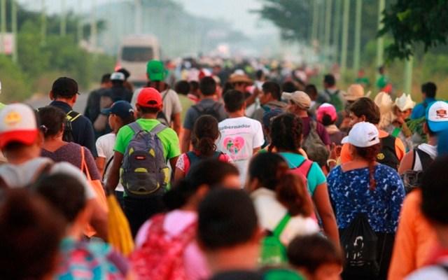 Caravana migrante llega a Matías Romero, Oaxaca - Foto de Notimex