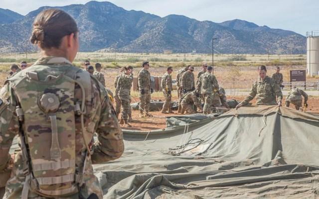 Inicia el arribo de soldados estadounidenses a la frontera con México - llegan primeros soldados a la frontera méxico-eeuu