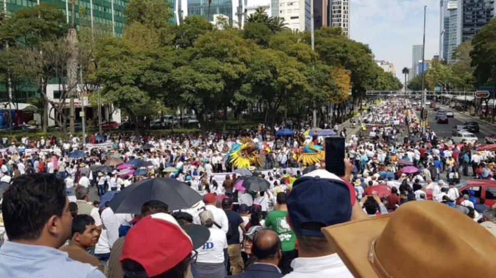 Las movilizaciones de este jueves en la Ciudad de México - Foto de @ntrtoros