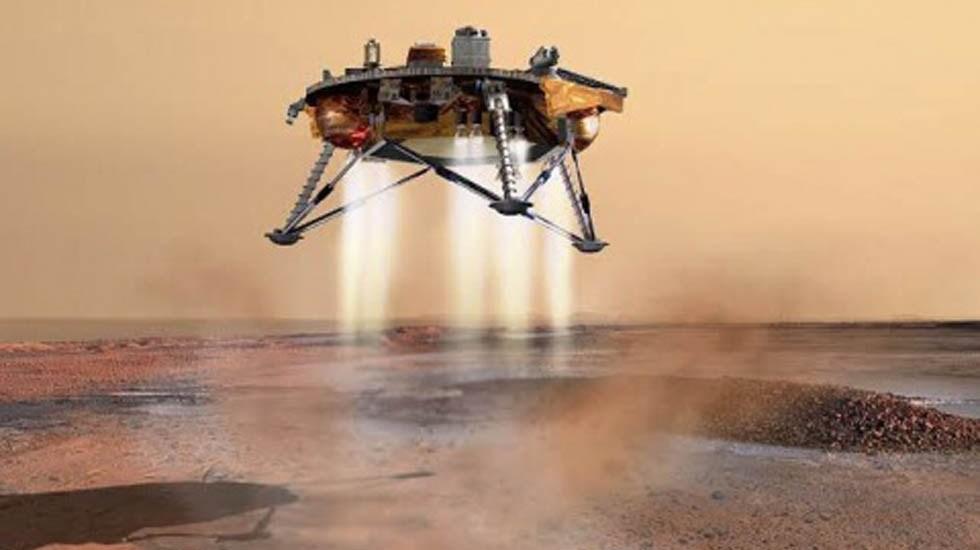 NASA descubre antiguo lago en el planeta Marte - Nave espacial que se enviará a Marte para hallar posible vida. Foto de NASA