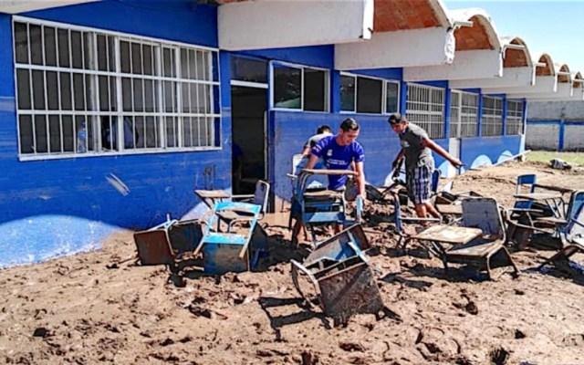 Preparatoria en Nayarit sufre pérdida total tras paso de Willa - Foto de NNC