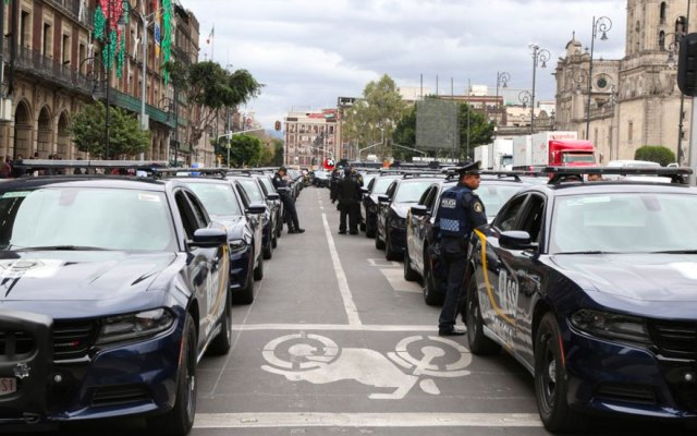 SSP capitalina se refuerza con 97 vehículos - Foto de @SSP_CDMX