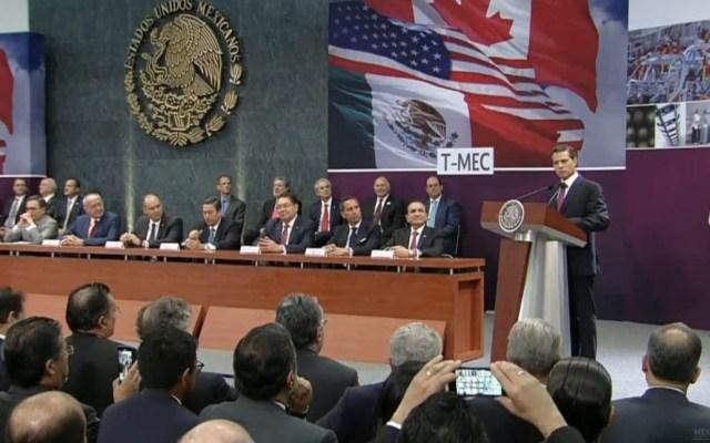 Peña Nieto se reúne con equipo negociador del T-MEC - Peña Nieto recibió en Los Pinos al equipo negociador del T-MEC. Foto de @ESanchezHdz