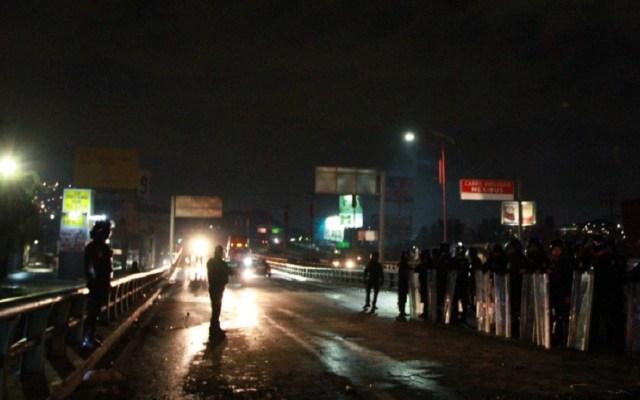 Liberación de la México-Pachuca fue un logro de logística: PF - Policía Federal liberó la autopista México-Pachuca. Foto de Notimex