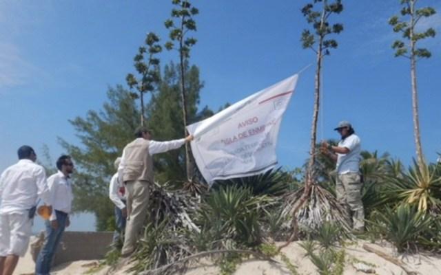 Imponen multa de 4 mdp por fiesta en isla protegida de Veracruz - Foto de @PROFEPA_Mx