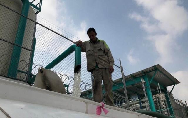 Qué bien que el avance de Conagua es bueno: Sacmex - Reparto de agua en pipas. Foto de @raguirrediaz