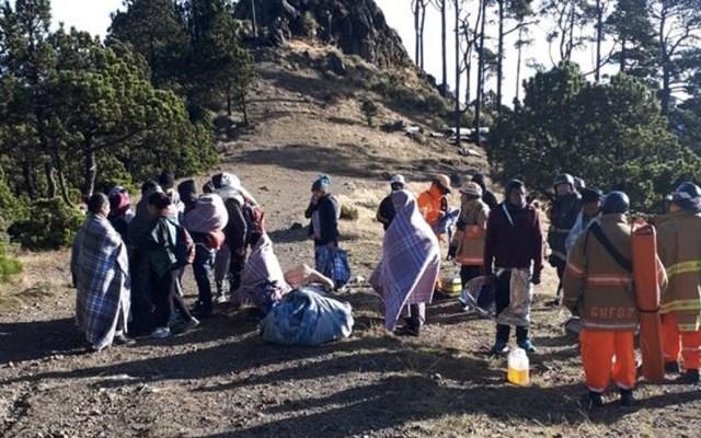 #Video Rescatan a 20 guatemaltecos en el volcán más alto de Centroamérica - Foto de Prensa Libre