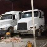 Aseguran combustible y vehículos en taller de Reynosa - Foto de Policía Estatal