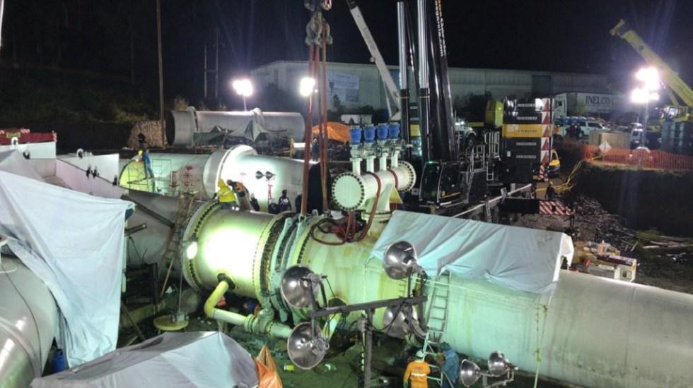Hasta el jueves llegaría agua a la Ciudad de México - Labores en el Sistema Cutzamala. Foto de @conagua_mx