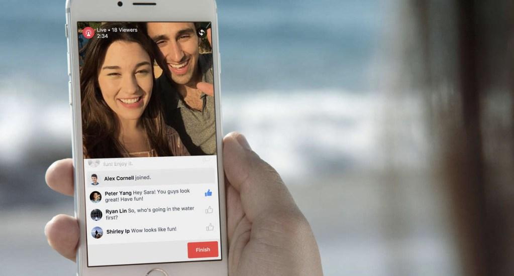 Facebook elimina respuestas automáticas en transmisiones en vivo - Foto de internet